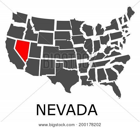 Nevada State On Usa Map