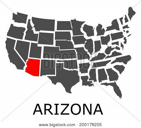 Arizona State On Usa Map