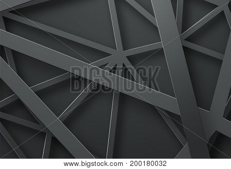 Black Background With Black Lines In The Air At Different Heights