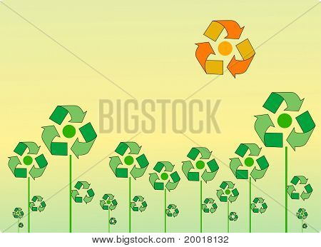 Recycle landscape