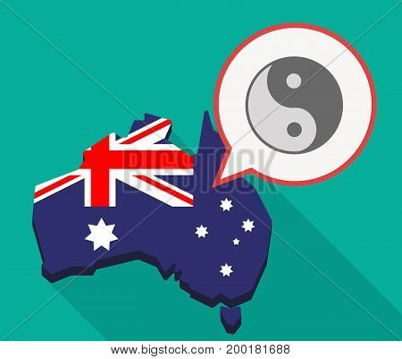 Long Shadow Australia Mmap With A Ying Yang