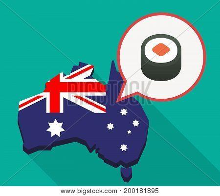 Long Shadow Australia Mmap With A Piece Of Sushi Maki