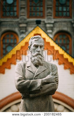 Tretyakov monument near State Tretyakov Gallery is an art gallery in Moscow, Russia, the foremost depository of Russian fine art in the world.