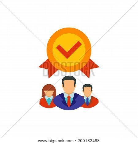 Icon of successful business team. Cooperation, corporate business, specialists. Teamwork concept. Can be used for topics like leadership, quality assurance, professionals