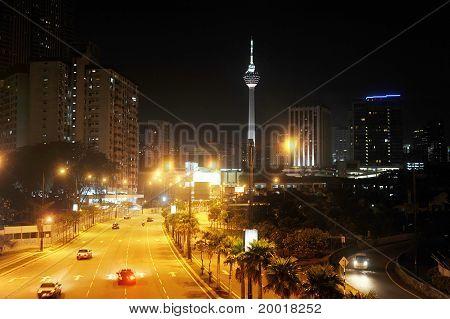 Night View Of Kuala Lumpur Downtown