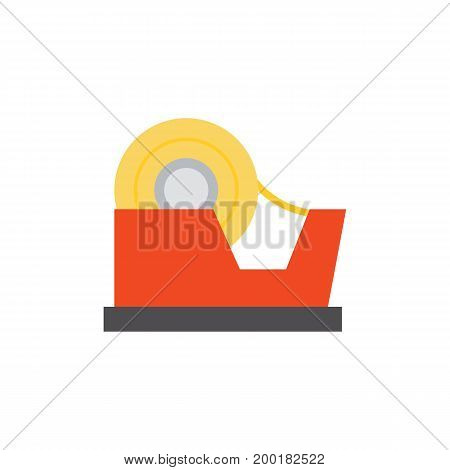 Icon of tape dispenser. Device, tool, shearing tape. Stationary concept. Can be used for topics like office supply, construction, packaging