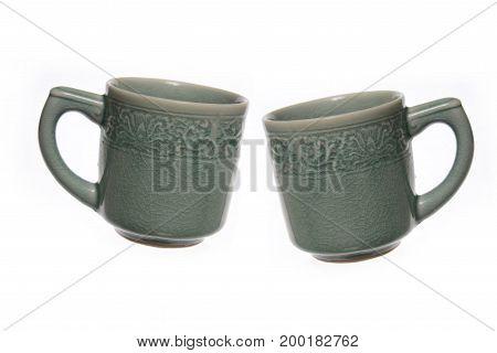 Image of Two Ceramic coffee mug .