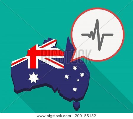 Long Shadow Australia Mmap With A Heart Beat Sign