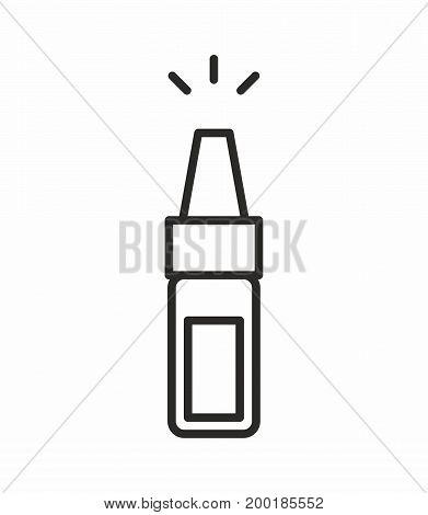 Bottle line icon on white background. Vector illustration.