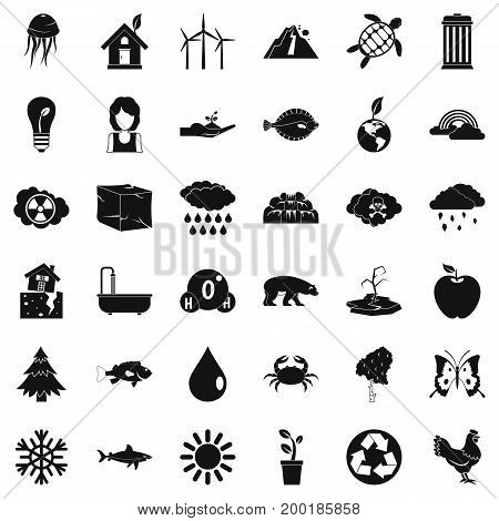 Our earth icons set. Simple style of 36 our earth vector icons for web isolated on white background