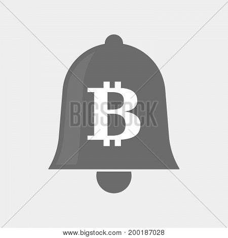 Isolated Bell With A Bit Coin Sign