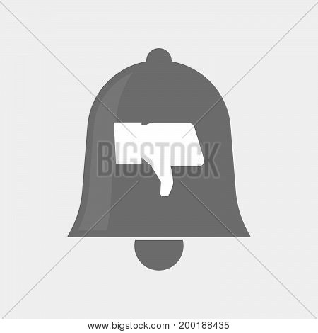 Isolated Bell With A Thumb Down Hand