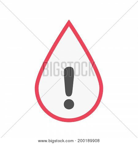 Isolated Blood Drop With An Exclamarion Sign