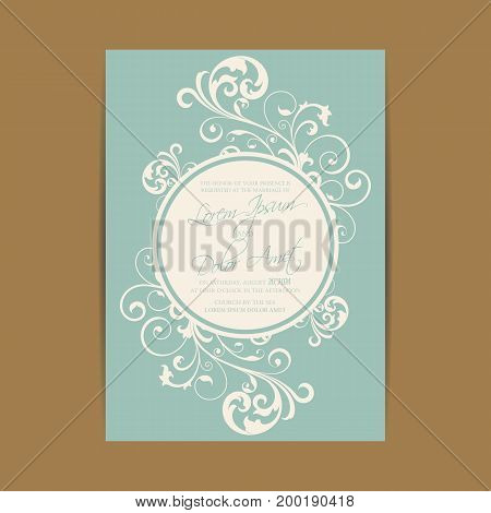 Wedding invitation and save the date cards. Also can be used as greeting cards birthday cards or party invitations