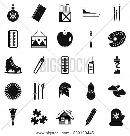 Picture icons set. Simple set of 25 picture vector icons for web isolated on white background
