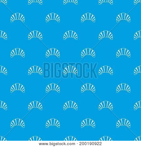 Croissant pattern repeat seamless in blue color for any design. Vector geometric illustration