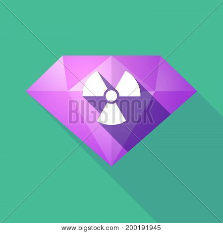 Long Shadow Diamond With A Radio Activity Sign