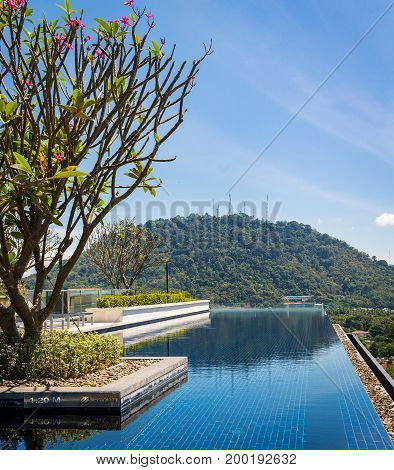 Swimming Pool On Rooftop Terrace With Beautiful View