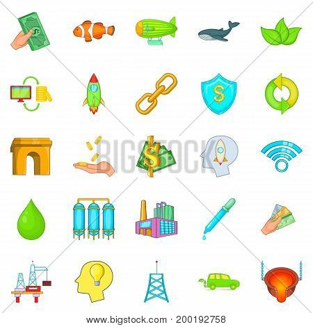 Ecology care icons set. Cartoon set of 25 ecology care vector icons for web isolated on white background