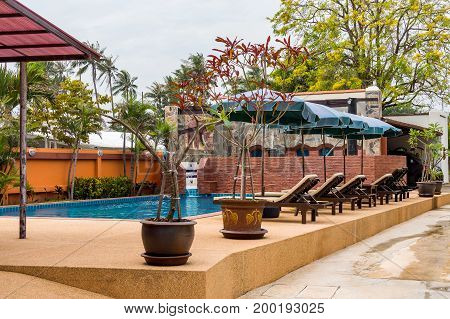Typical Swimming Pool And Relax Zone