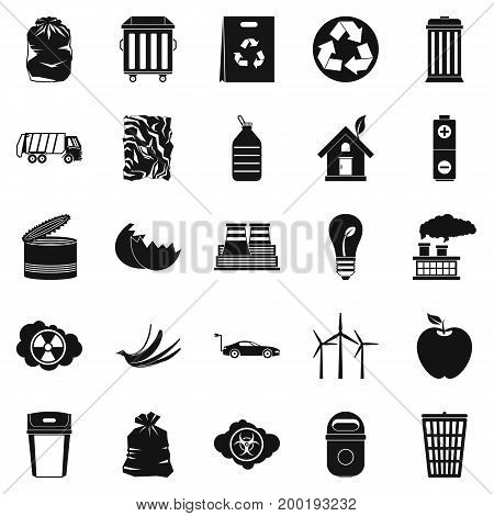 Reserved place icons set. Simple set of 25 reserved place vector icons for web isolated on white background