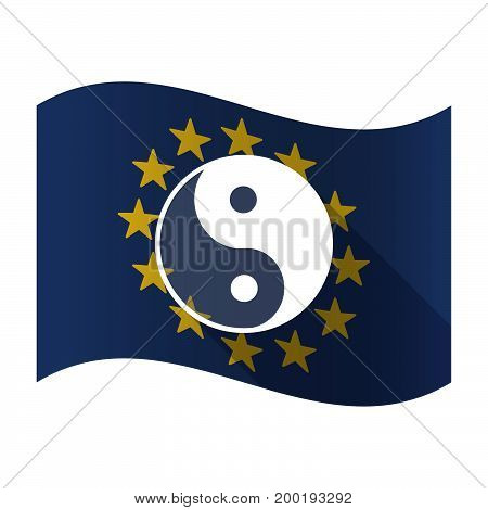 Isolated Eu Flaw With A Ying Yang