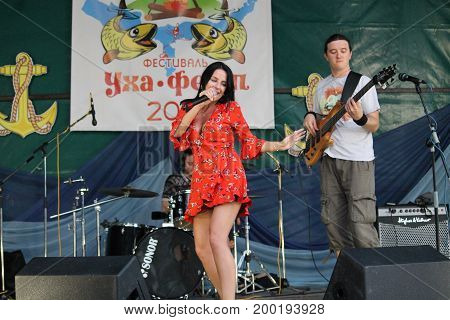 Victoria Sheiko with cover band