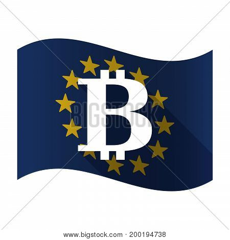 Isolated Eu Flaw With A Bit Coin Sign