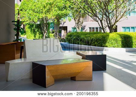 Relax, Waiting, Sitting Zone Near The Pool