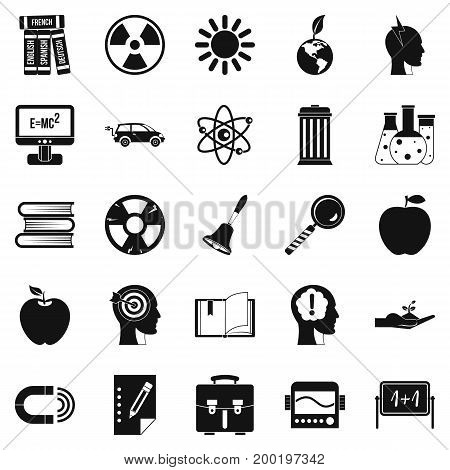 Discoveries icons set. Simple set of 25 discoveries vector icons for web isolated on white background