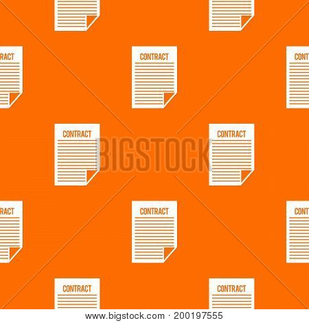 Contract pattern repeat seamless in orange color for any design. Vector geometric illustration