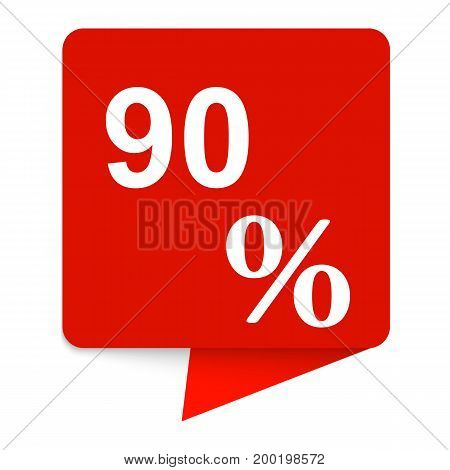 Square banner of discount sticker vector illustration
