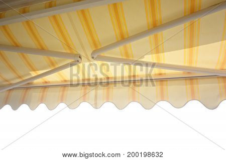 balcony awning isolated on a white background