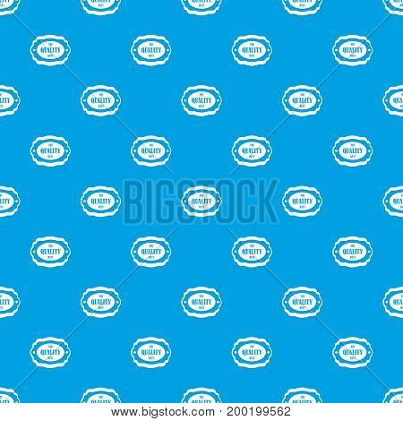 The quality best label pattern repeat seamless in blue color for any design. Vector geometric illustration