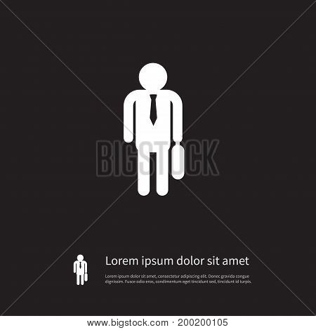 Portfolio Vector Element Can Be Used For Officiant, Portfolio, Businessman Design Concept.  Isolated Officiant Icon.