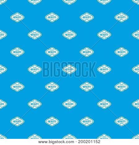 Premium quality product label pattern repeat seamless in blue color for any design. Vector geometric illustration