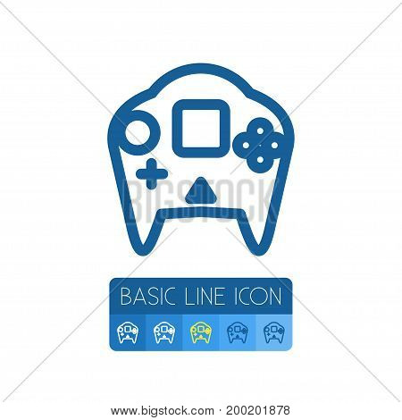 Video-Game Vector Element Can Be Used For Video-Game, Arcade, Gamepad Design Concept.  Isolated Arcade Outline.