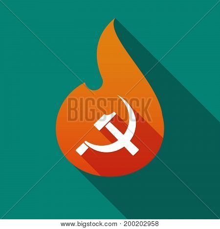 Long Shadow Flame With  The Communist Symbol