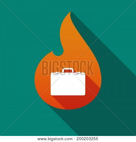 Long Shadow Flame With  A Briefcase