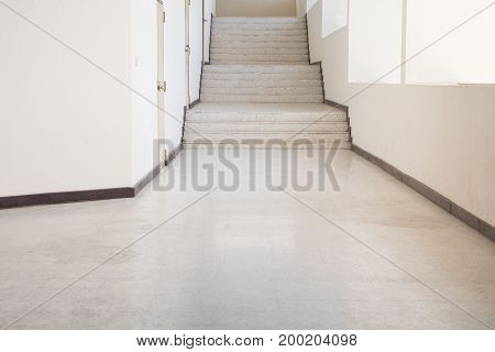 way Up Stairs terrazzo floor with copy space add text
