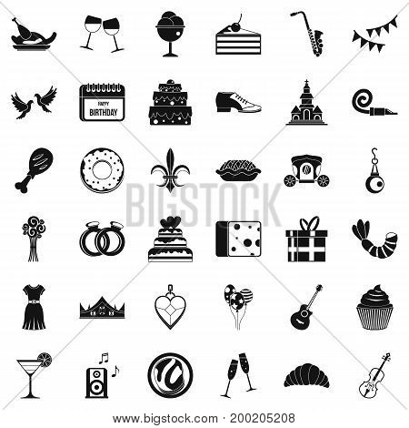 Great banquet icons set. Simple style of 36 great banquet vector icons for web isolated on white background