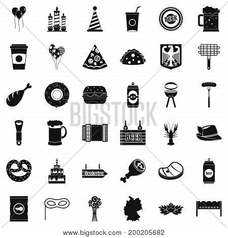 Beer hop icons set. Simple style of 36 beer hop vector icons for web isolated on white background