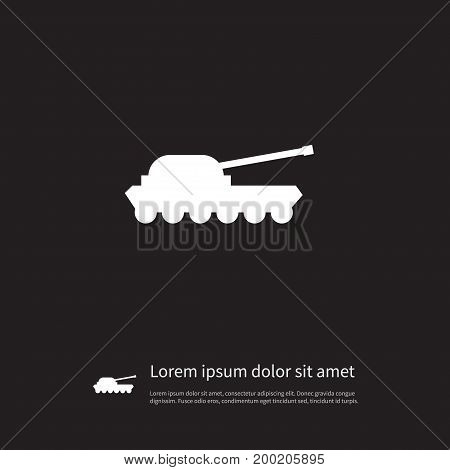 Warfare Vector Element Can Be Used For Artillery, Warfare, Troops Design Concept.  Isolated Artillery Icon.