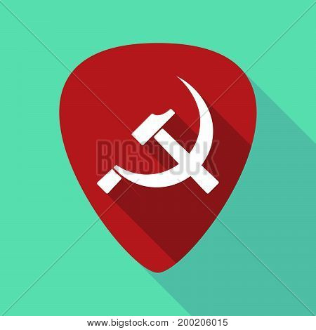 Long Shadow Plectrum With  The Communist Symbol