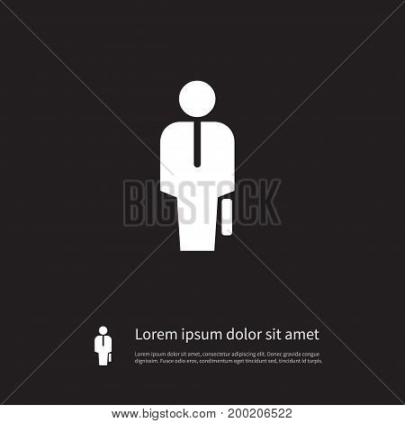 Officiant Vector Element Can Be Used For Officiant, Portfolio, Businessman Design Concept.  Isolated Portfolio Icon.