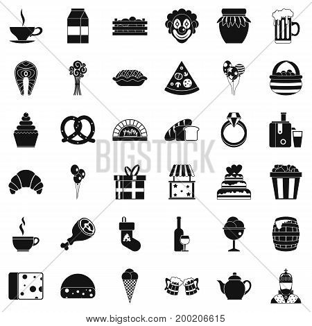 Big bounty icons set. Simple style of 36 big bounty vector icons for web isolated on white background