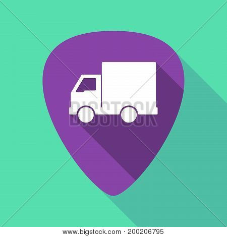 Long Shadow Plectrum With A  Delivery Truck