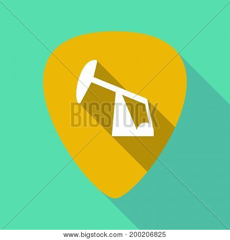 Long Shadow Plectrum With A Horsehead Pump