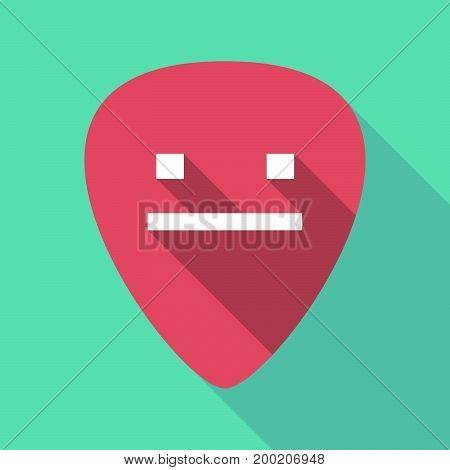 Long Shadow Plectrum With A Emotionless Text Face