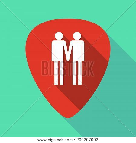 Long Shadow Plectrum With A Gay Couple Pictogram